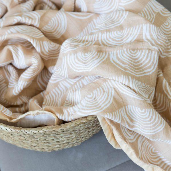 Musselin Decke